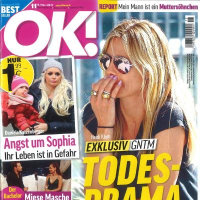 OK Magazin Cover über PURE Friseur in Essen